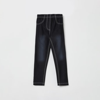 MAX Stonewashed Elasticated Jeggings