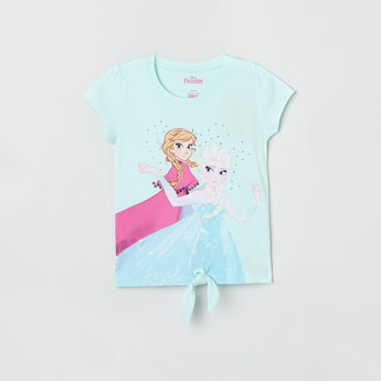 MAX Frozen Print T-shirt with Tie-Up
