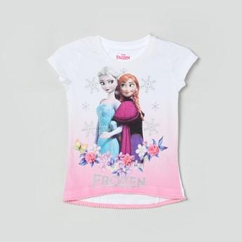 MAX Frozen Print High-Low T-shirt