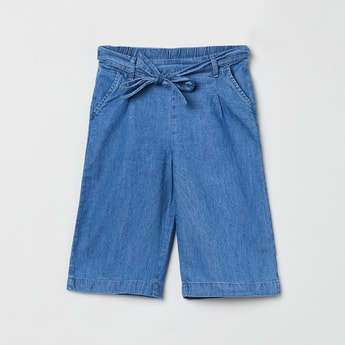 MAX Solid Tie-Up Waist Shorts