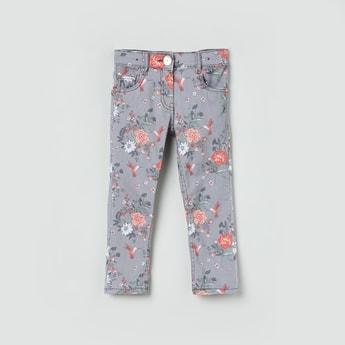 MAX Floral Print 5-Pocket Pants