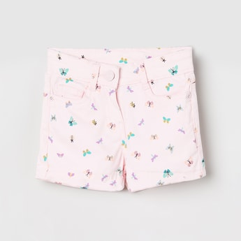 MAX Butterfly Print 5-Pocket Shorts