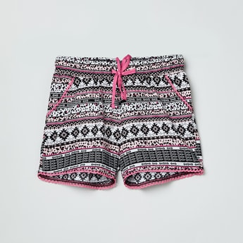 MAx Printed Shorts with Lace Trim