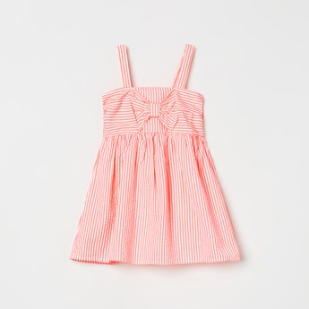 MAX Striped Spaghetti Top with Bow