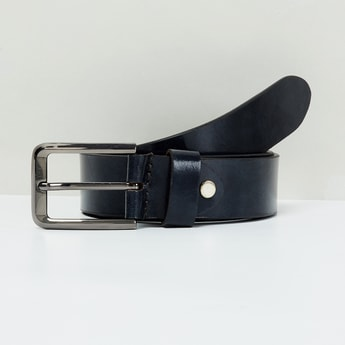 MAX Genuine Leather Solid Formal Belt