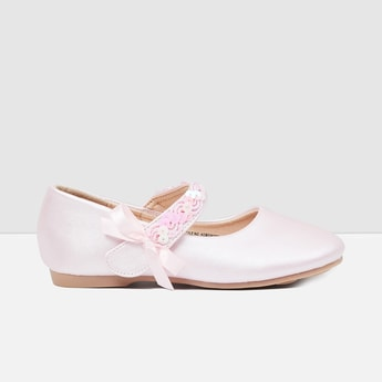 MAX Solid Bow-Detailed Mary Janes