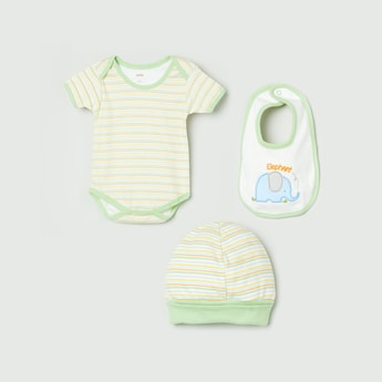 MAX Set of 3 Bodysuit, Beanie and Bib
