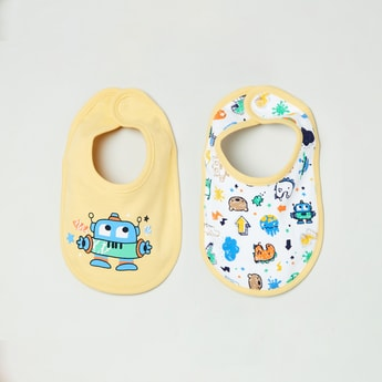 MAX Boys Printed Bib - Pack of 2