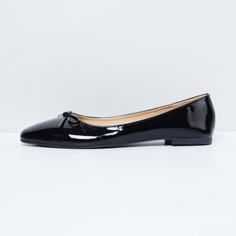 MAX Pointed-Toe Sheen Ballerinas