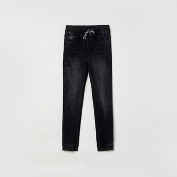 MAX Stonewashed Slim Fit Denim Joggers