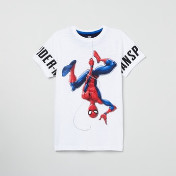 MAX Spiderman Print Crew Neck T-shirt
