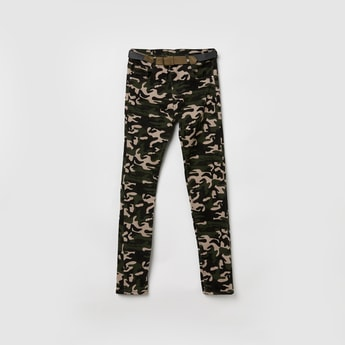MAX Printed Trousers with Belt