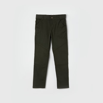 MAX Solid Woven Casual Trousers