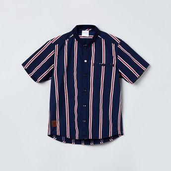 MAX Striped Casual Shirt With Baseball Collar