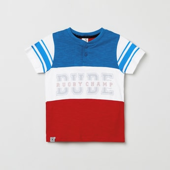 MAX Colorblocked Henley T-shirt