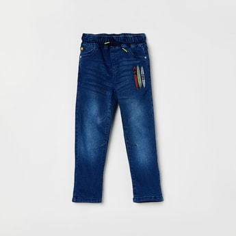 MAX Stonewashed Elasticated Jeans