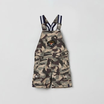 MAX Camouflage Print Dungarees