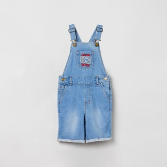 MAX Lightly Washed Denim Dungarees