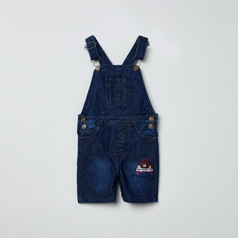 MAX Patchworked Dungarees