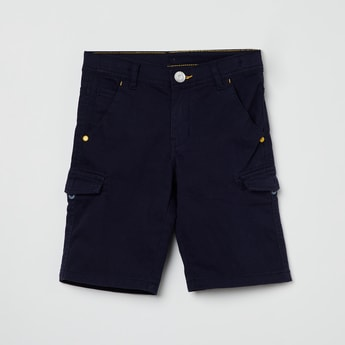 MAX Solid Bermuda with Side Pockets