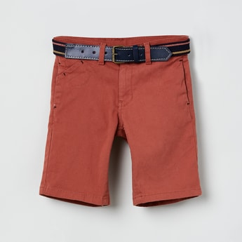 MAX Solid Shorts with Attached Belt
