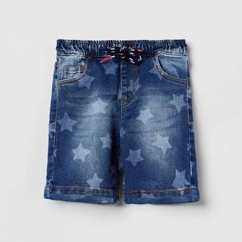 MAX Boys Printed Elasticated Denim Shorts
