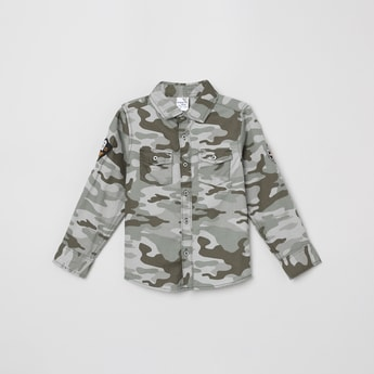 MAX Camouflage Print Full Sleeves Casual Shirt