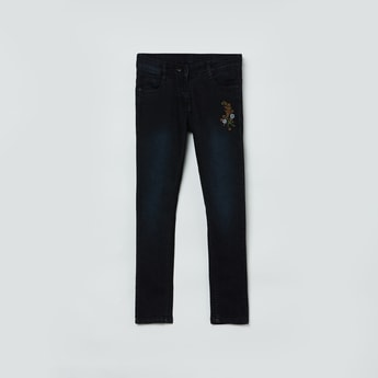 MAX Embroidered Washed Jeans