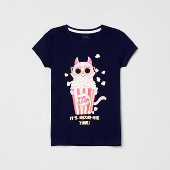 MAX Graphic Print Round-Neck T-shirt