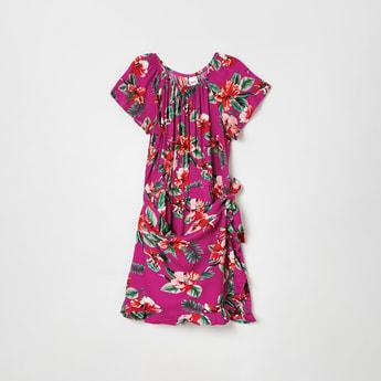 MAX Floral Print Layered Playsuit with Raglan Sleeves
