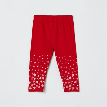 MAX Star Print Knitted Leggings