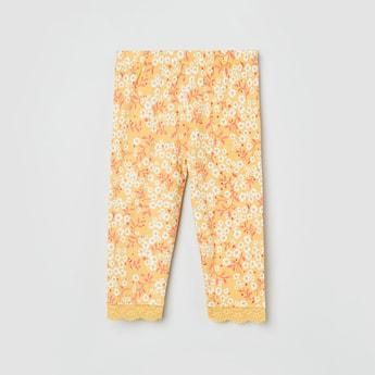 MAX Floral Print Elasticated Waistband Leggings
