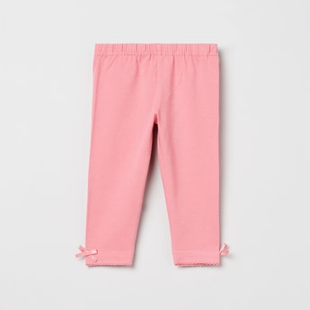 MAX Solid Leggings with Bow