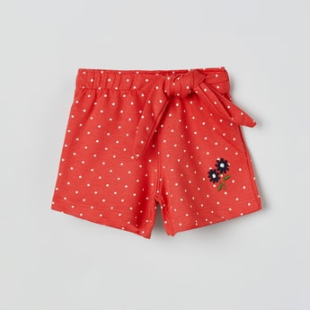 MAX Printed Shorts with Tie-Up Detail