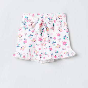 MAX Printed Shorts with Ruffled Detail