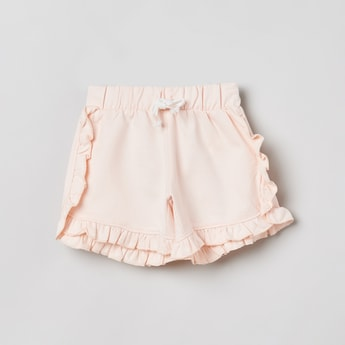 MAX Solid Ruffle Detailed Shorts