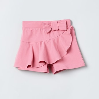 MAX Solid Skorts with Ruffled Layer