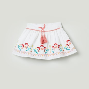 MAX Embroidered Flared Skirt