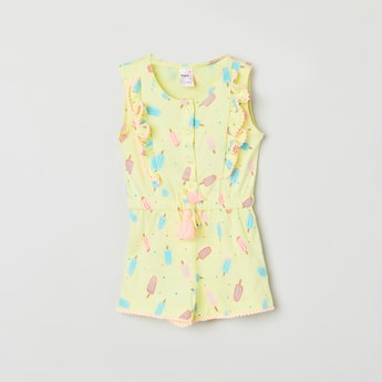 MAX Printed Sleeveless Playsuit