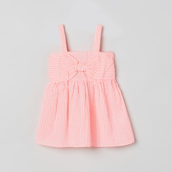 MAX Striped Swing Top with Bow