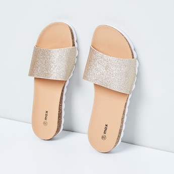 MAX Glittered Cleated Sliders