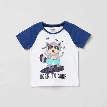 MAX Graphic Print Raglan Sleeves T-shirt