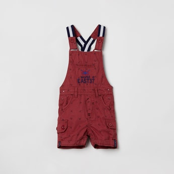 MAX Printed Dungarees with Upturned Hems