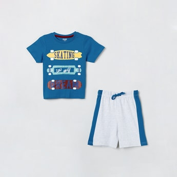 MAX Printed Lounge T-shirt and Shorts