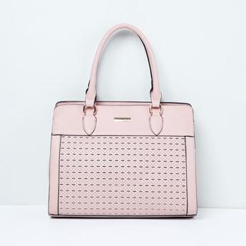 MAX Laser-Cut Handbag with Rolled Handles