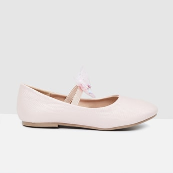 MAX Textured Bow Detail Ballerinas