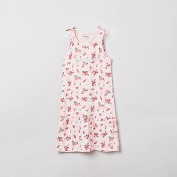 MAX Floral Print Ruffled Hem Nightdress