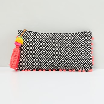MAX Embroidered Pouch with Pompoms