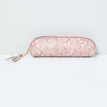 MAX Printed Zip-Closure Cosmetic Pouch