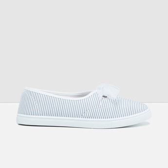 MAX Striped Lace-Up Detail Casual Shoes